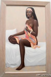AICHA ASSISE; Bernard Mens, oil on canvas